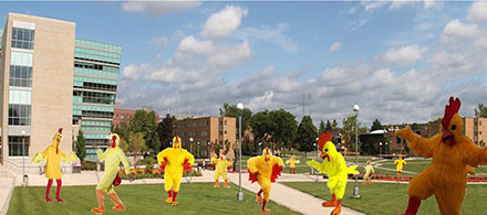 Chicken Dance Flash Mob
