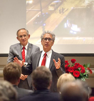 Ferris President David Eisler and Kendall President David Rosen