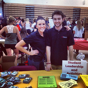 Adam Donaghy is pictured here with fellow student leader Avery Larson