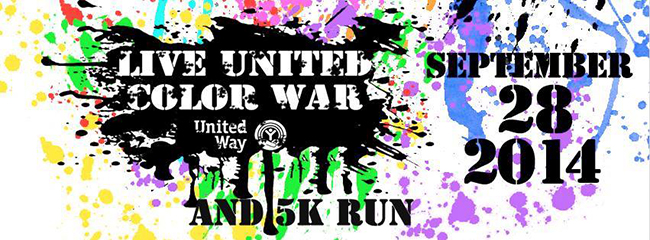 The Live United Color War and 5K run is the kick-off event for this year's 2014 homecoming week. The event features an obstacle course and a 5K run.