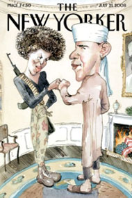 New Yorker cover of Obama
