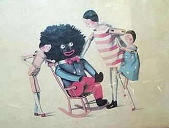 Golliwog in chair