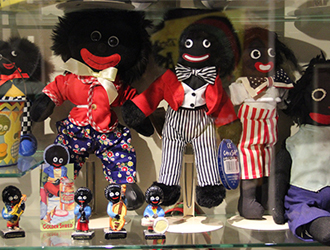 Golliwogs on shelf