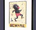 Beware poster by Michael Ray Charles