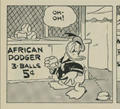 Donald Duck playing African Dodger