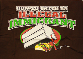 Illegal immigrant T shirt