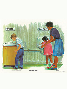 Segregated water fountains painting