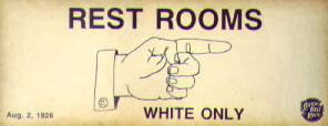 White Only Rest Rooms