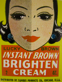 Lucky Brown Instant Brown Brighten Cream Advertisement