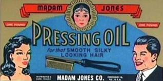 Mafam Jones pressing oil advertisement