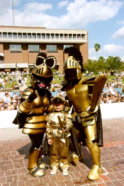 UCF Knightro and Glycerin