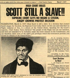 an introduction to the case scott versus sanford in 1857 of the united states supreme court In 1857, the case reached the united states supreme court the justices ruled  against scott john emerson's widow had since remarried, and she returned.