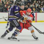 BULLDOG HOCKEY SPLIT A 2-GAME SERIES WITH WCHA RIVAL MINNESOTA STATE.