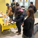 "KRISTI HAIK, DEAN OF THE COLLEGE OF ARTS & SCIENCES, HOSTED ""DONUTS WITH THE DEAN"" DURING EXAM WEEK."