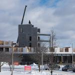 PROGRESS CONTINUED AT THE CONSTRUCTION SITE FOR THE NEW NORTH HALL.