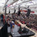 OVER 700 GRADUATES PARTICIPATED IN FALL COMMENCEMENT CEREMONIES AT WINK ARENA.