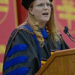 2016 DISTINGUISHED TEACHER AWARD RECIPIENT SHARON COLLEY WAS THE FEATURED COMMENCEMENT SPEAKER.