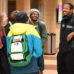 STUDENTS RETURNED TO CAMPUS FOR THE START OF SPRING SEMESTER.