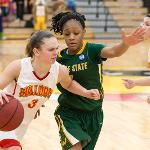 THE WOMEN'S BASKETBALL TEAM DEFEATED WAYNE STATE, 83-80.