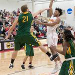 THE BULLDOGS BLEW OPEN A CLOSE GAME BY OUT-SCORING NORTHERN MICHIGAN IN THE SECOND HALF, 60-39.