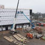 CONSTRUCTION CONTINUES ON THE NEW NORTH HALL.
