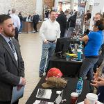 SCENES FROM THE CAREER AND INTERNSHIP FAIR.