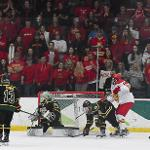 . . .IN THE BATTLE FOR THE FINAL HOME-ICE SPOT IN THE UPCOMING WCHA PLAYOFFS.