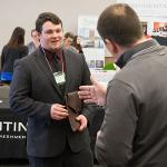 PROSPECTIVE EMPLOYERS WERE ON HAND TO DISCUSS INTERNSHIP AND EMPLOYMENT OPPORTUNITIES.