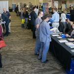 STUDENTS FILLED THE UNIVERSITY CENTER FOR THE THIRD DAY OF THE CAREER AND INTERNSHIP FAIR.