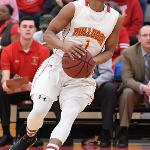 SENIOR QUENTIN RUFF SCORED 28 POINTS TO LEAD FERRIS TO AN 80-79 WIN OVER ASHLAND IN THE GLIAC FINALS.