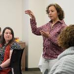 CELESTE BAINE OF THE ENGINEERING EDUCATION SERVICE CENTER OFFERED ADVANCED TRAINING. . .