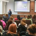 A CONFERENCE AIMED AT BRINGING AWARENESS TO THE TRAGEDY OF HUMAN TRAFFICKING DREW A LARGE AUDIENCE.