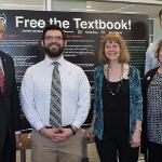 A POSTER SESSION ON OPEN EDUCATIONAL RESOURCES EXPLAINED THE COST-SAVING BENEFITS TO STUDENTS.