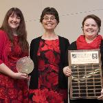 TRINIDY WILLIAMS (L) RECEIVED THE HELEN GILLESPIE FERRIS DISTINGUISHED WOMAN LEADER AWARD.