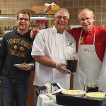 """STUDENTS ENJOYED A STUDY BREAK DURING FINALS WEEK AT THE POPULAR """"PANCAKES WITH THE PRESIDENT"""" LATE NIGHT FEAST."""