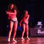 SCENES FROM THE BLACK GREEK COUNCIL STEP SHOW AT WILLIAMS AUDITORIUM.