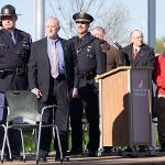 HUNDREDS OF LAW ENFORCEMENT OFFICERS, STUDENTS AND SUPPORTERS ATTENDED THE CEREMONY.