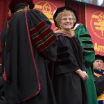 FERRIS ALUMNA MARY GARVELINK WAS AWARDED AN HONORARY DOCTORATE.