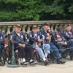THE VETERANS FLEW TO WASHINGTON D.C. TO VISIT WAR MEMORIALS AND MONUMENTS BUILT IN THEIR HONOR.
