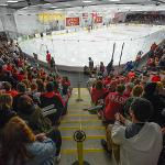 STUDENTS AND AREA FANS ENJOYED THE FIERCE COMPETIION OF NCAA DIVISION I HOCKEY.
