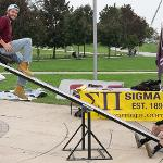 """THE SIGMA PI FRATERNITY """"TEETER-TOTTER-ATHON"""" FOR CANCER RESEARCH"""
