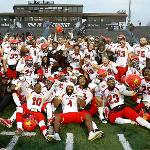 BULLDOG FOOTBALL REACHED THE NCAA DIVISION II SEMI-FINALS AFTER STUNNING ARCH-RIVAL GRAND VALLEY ON ITS HOME FIELD IN THE PLAYOFFS.