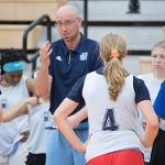 THE GIRLS BASKETBALL CAMP FOCUSES ON DEVELOPING FUNDAMENTALS AND TEAM PLAY.