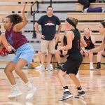 BASKETBALL CAMPS OFFER TEAMS THE OPPORTUNITY TO LEARN UNDER THEIR OWN PREP COACHES.
