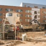 CONSTRUCTION OF THE NEW 402-BED, 4-STORY NORTH HALL IS MOVING ALONG ON SCHEDULE.