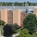 A CAMPUS VIEW FROM ATOP NORTH HALL