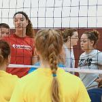 SCENES FROM VOLLEYBALL CAMP