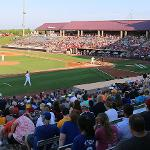 THE ALUMNI OFFICE HOSTED A RECEPTION DURING A MINOR LEAGUE BASEBALL GAME IN APPLETON, WISCONSIN.