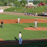 THE WISCONSIN TIMBER RATTLERS FACED THE WEST MICHIGAN WHITECAPS IN THE BASEBALL GAME.