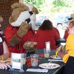BRUTUS JOINED IN ON THE FUN AT THE JOHN BALL ZOO.